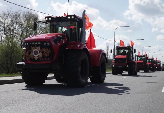 Парад «Кировцев» в честь Дня Победы